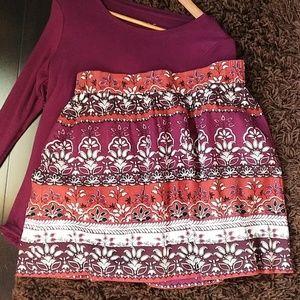 Loft multi color fall skirt